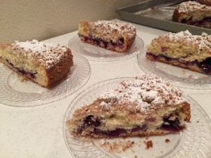Mar 2016 wine dinner 2 Blueberry Crumb Cake