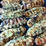 rolled chicken w basil pesto
