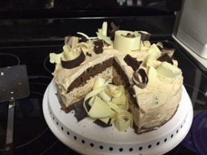 Tiramisu cake round